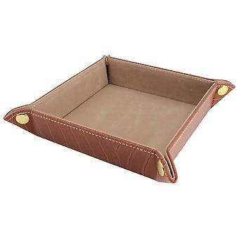 David Van Hagen Velvet Desk Tray - Brown
