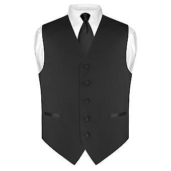 Robe Vest & Skinny cravate couleur unie 2.5