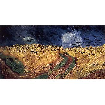 Wheatfield avec Crows, Vincent Van Gogh, 80x40cm