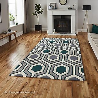 Polaris grau grünen Teppich