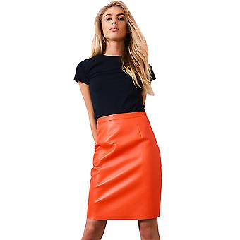 Lovemystyle Neon pomarańczowy sweterek z powrotem Zip
