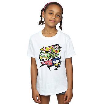دي سي كوميكس الفتيات جبابرة في سن المراهقة تذهب القميص شريحة بيتزا