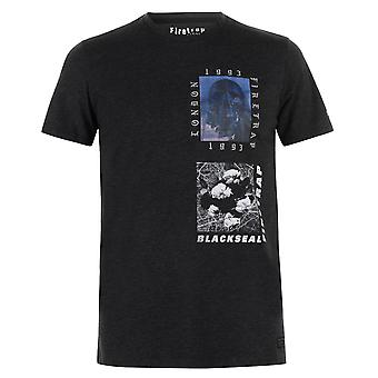 Firetrap Mens NuRave T Shirt Crew Neck T-Shirt Tee Top
