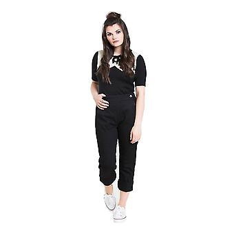 Hell Bunny Charlie Denim Capris Trousers