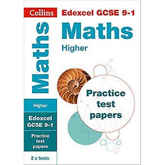 EDEXCEL GCSE 9-1 Mathematik höhere Praxis Testpapiere (Collins GCSE 9-1