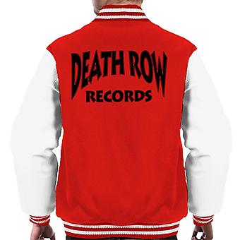 Death Row Recrods Logo Black mannen Varsity Jacket
