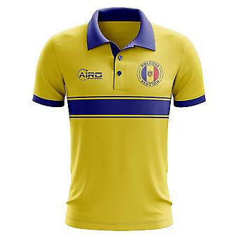 Republik Moldau Konzept Stripe Polo-Shirt (gelb)