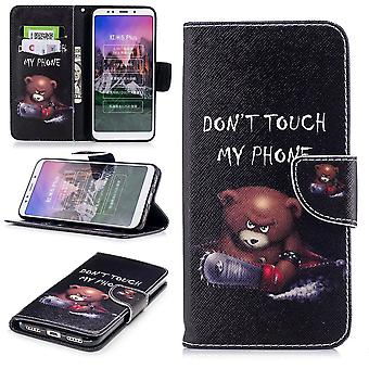 For Huawei Y6 2019 faux leather bag Book Motif 30 Protection Case Case Cover Case New