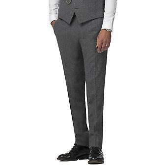 Gibson London Gibson London Gunmetal Grey Tweed Trousers