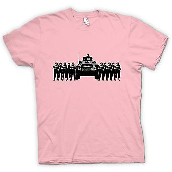 Mens T-shirt - Banksy Graffiti - Polizei Staat