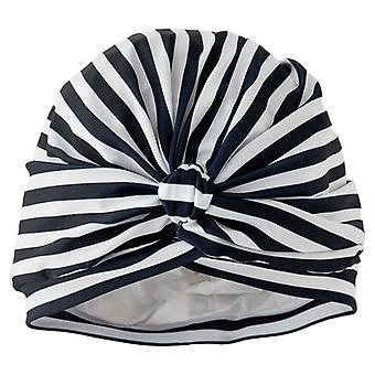 Stripey Blue Luxury Shower Turban