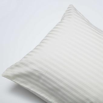 Belledorm 540 Thread Count Satin Stripe Housewife Pillowcases (Pair)