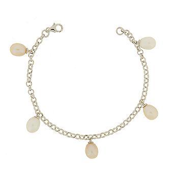 Bracelet 925 Silver Multicolored Pearls