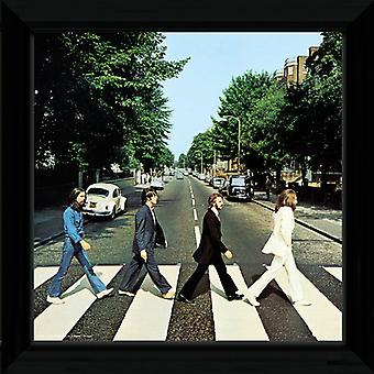 Beatles Abbey Road indrammet Album dække Print 12x12in