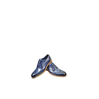 Barker Valiant Main Painted Leather Shoes Navy
