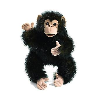 Hand Puppet - Folkmanis - Chimpanzee Baby New Animals Soft Doll Plush 2877
