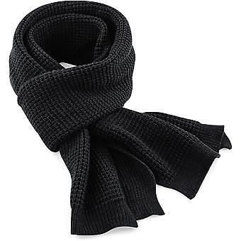 Beechfield-klassieke wafel gebreide sjaal