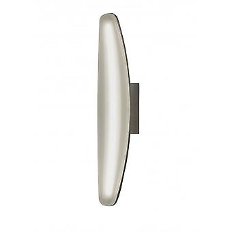 Mantra Hemisferic Wall Lamp 6W LED 3000K, 540lm, Satin Aluminium/Frosted Acrylic, 3yrs Warranty