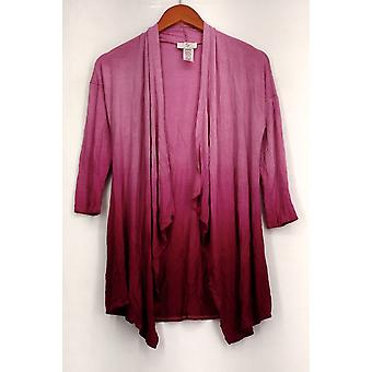 OSO Casuals Basic Jacket Dip Dye Cascade Cardigan Pink Womens A426723