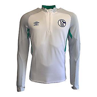 2019-2020 Schalke Umbro Half Zip Training Top (White)