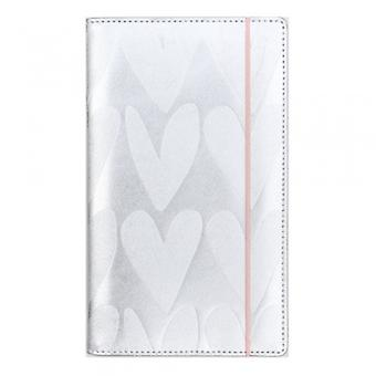 Caroline Gardner Metallic Silver Hearts Travel Wallet