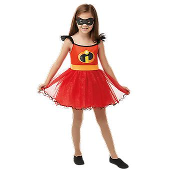 Girls Age 2 - 8 Years Incredible Girl Tutu Fancy Dress Costume