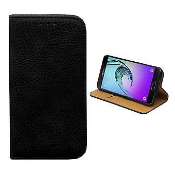 Samsung Galaxy J1 2016 Étui en cuir Noir - Bibliothèque