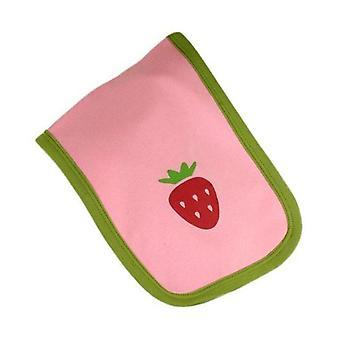 Pink & red strawberry burp cloth