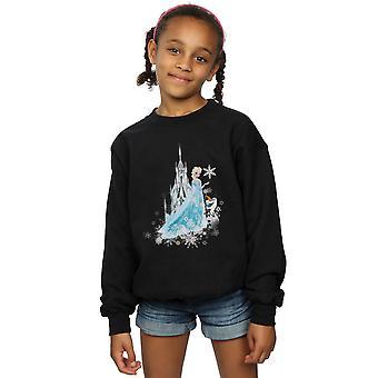 Disney Girls Frozen Elsa And Olaf Winter Magic Sweatshirt