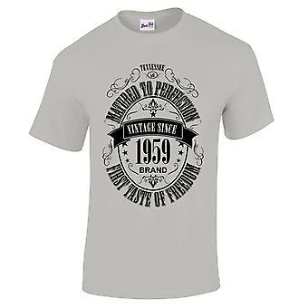 Mannen ' s 60ste verjaardag T-shirt gerijpt 1959 nieuwigheid giften voor hem