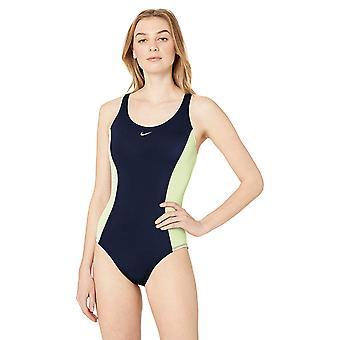 Nike Swim Women's Color Surge Powerback One Piece, Midnight Navy, Size Medium