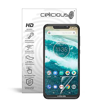 Celicious Vivid Invisible Glossy HD Screen Protector Film Compatible with Motorola One Power [Pack of 2]