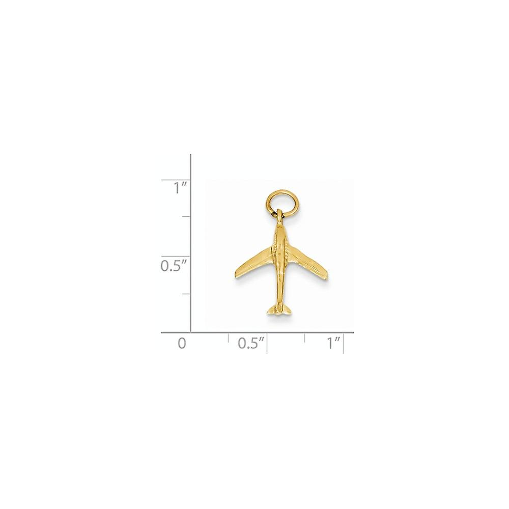 14k Yellow Gold Solid Polished Jet Charm Pendant Necklace Measures 21x16mm Jewelry Gifts for Women