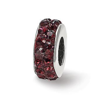 925 Sterling Silber poliert Reflexionen Juni Doppel Reihe Kristall Perle Anhänger Anhänger Halskette Schmuck Geschenke für Frauen
