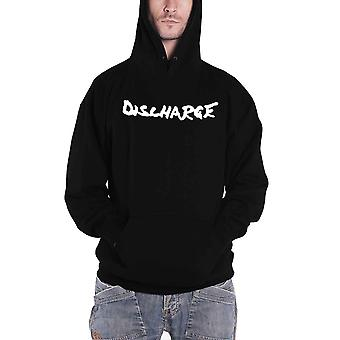 Discharge Hoodie Never Again Band Logo new Official Mens Black Pullover
