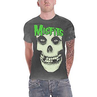 Misfits T Shirt Large Skull Band Logo new Official Mens Vintage Wash