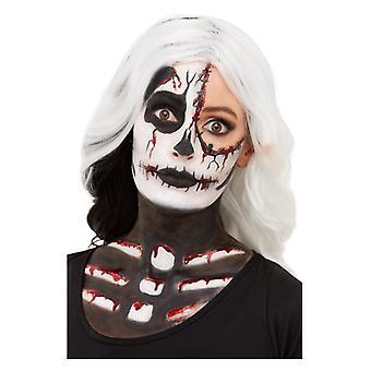 Skelett smink kit Halloween ansikte färger