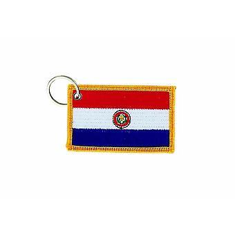 Cle Cles Schlüssel Brode Patch Ecusson Abzeichen Flagge Paraguay