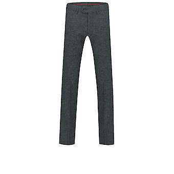 Dobell Mens Grey Donegal Tweed Trousers Slim Fit Wool Blend