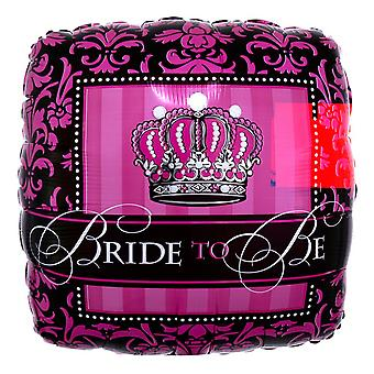 Anagram Crowned Bride To Be Square Foil Balloon