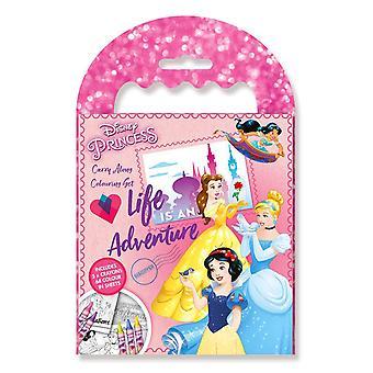 Disney Princess princesses Mini coloring book with crayons