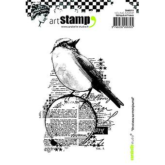 Carabelle Studio Cling Stamp A6-A Bird On My Diary