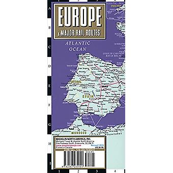 Streetwise Europe & Major Rail Routes Laminated Map by Michelin - 978