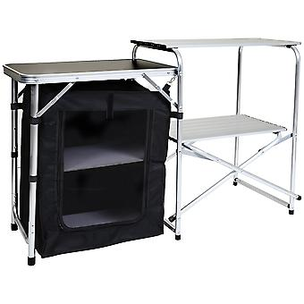 Charles Bentley Folding Camping Kitchen Stand Storage Unité outdoor Cooking