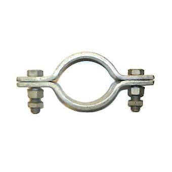Heavy Duty 2 Bolt Pipe Clip. 62 Mm Id (50 Mm Nb/60.3 Mm Od Pipe ) Galvanised