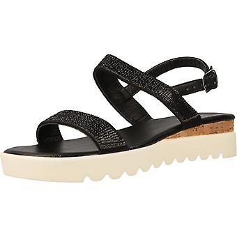 Gele winkel sandalen Londen kleur zwart