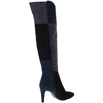 RIALTO Womens Carpio Faux Suede Over-The-Knee Boots Navy 5.5 Medium (B,M)