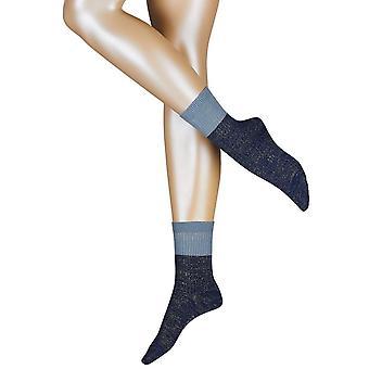 Esprit rib Block sokker-blå trykk