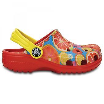 Crocs 204114 klassiske Kids Fruit unisex Clogs flamme