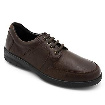 Padders Saturn Mens Leather Wide (g/h) Casual Shoes Brown